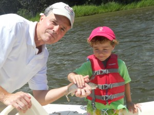 Big Edward and Little Edward fishing on the Wando River last week.