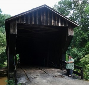 Reading on the Covered Bridge